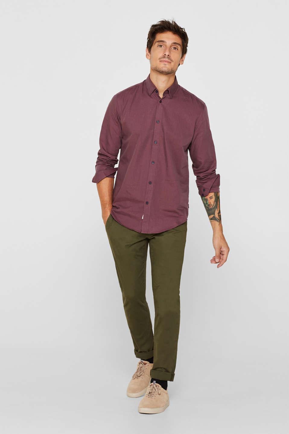 Shirts woven Slim fit, GARNET RED, detail image number 5