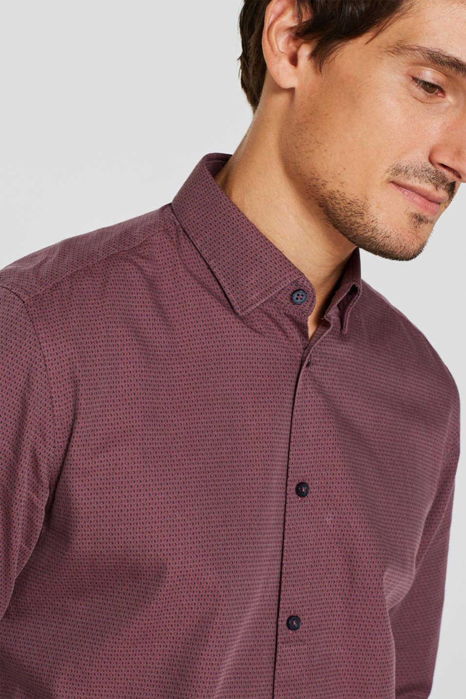 Shirts woven Slim fit, GARNET RED, detail image number 2