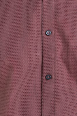 With wool: Top with a micro print, GARNET RED, detail