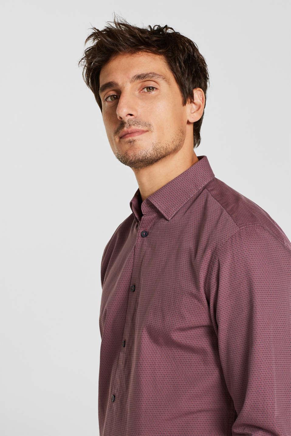 Shirts woven Slim fit, GARNET RED, detail image number 6