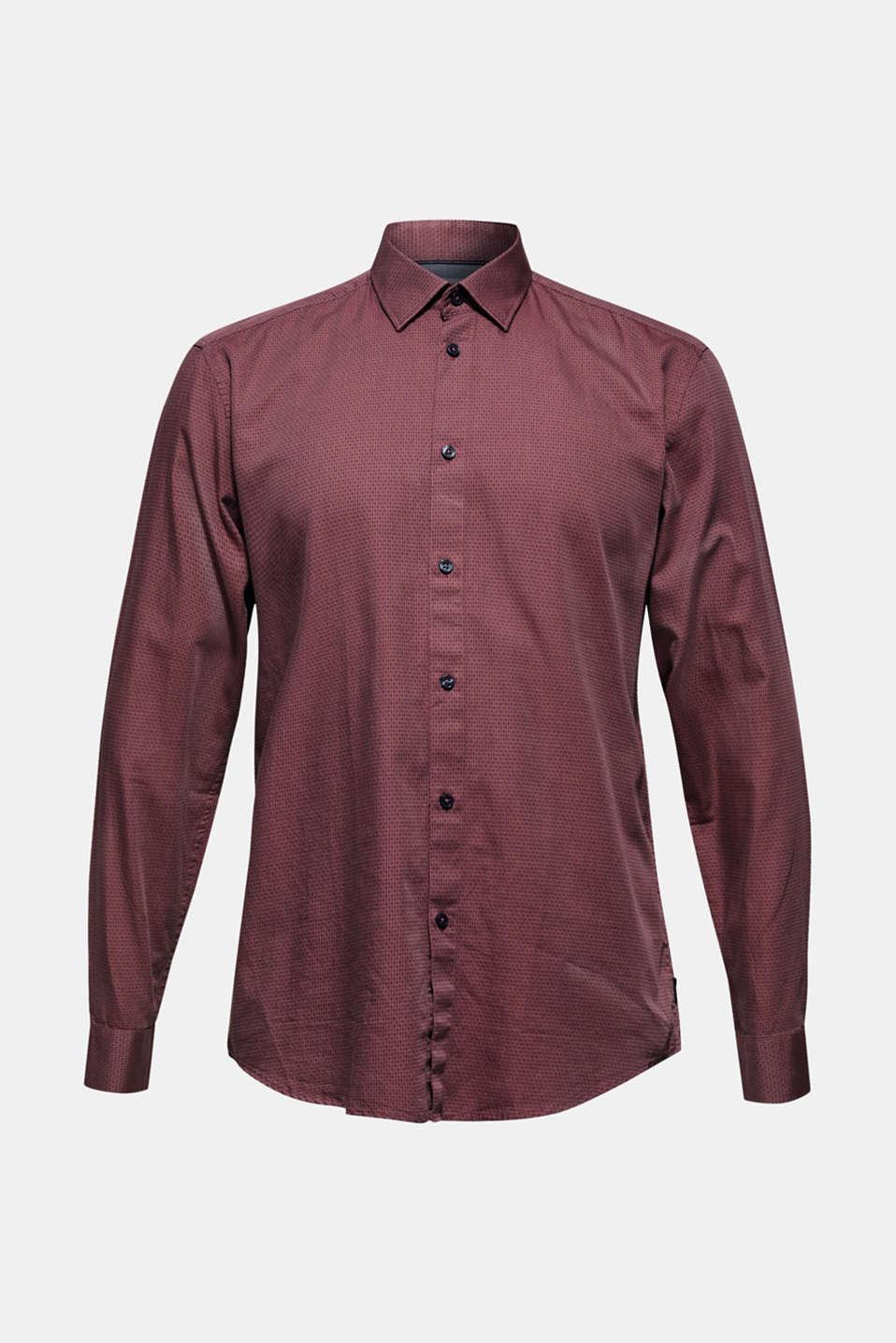 Shirts woven Slim fit, GARNET RED, detail image number 7