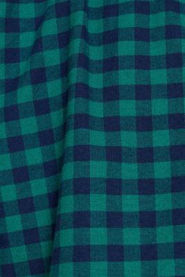 Flannel shirt with checks, made of stretch cotton, DARK GREEN, detail