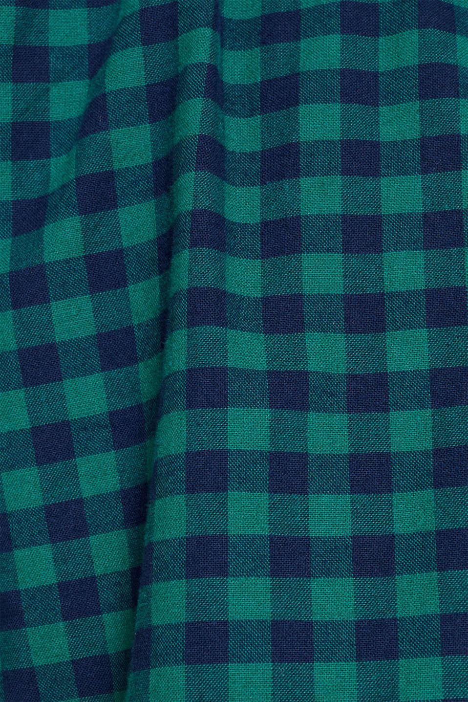 Flannel shirt with checks, made of stretch cotton, DARK GREEN, detail image number 4