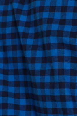 Flannel shirt with checks, made of stretch cotton, NAVY, detail