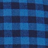 Flannel shirt with checks, made of stretch cotton, NAVY, swatch