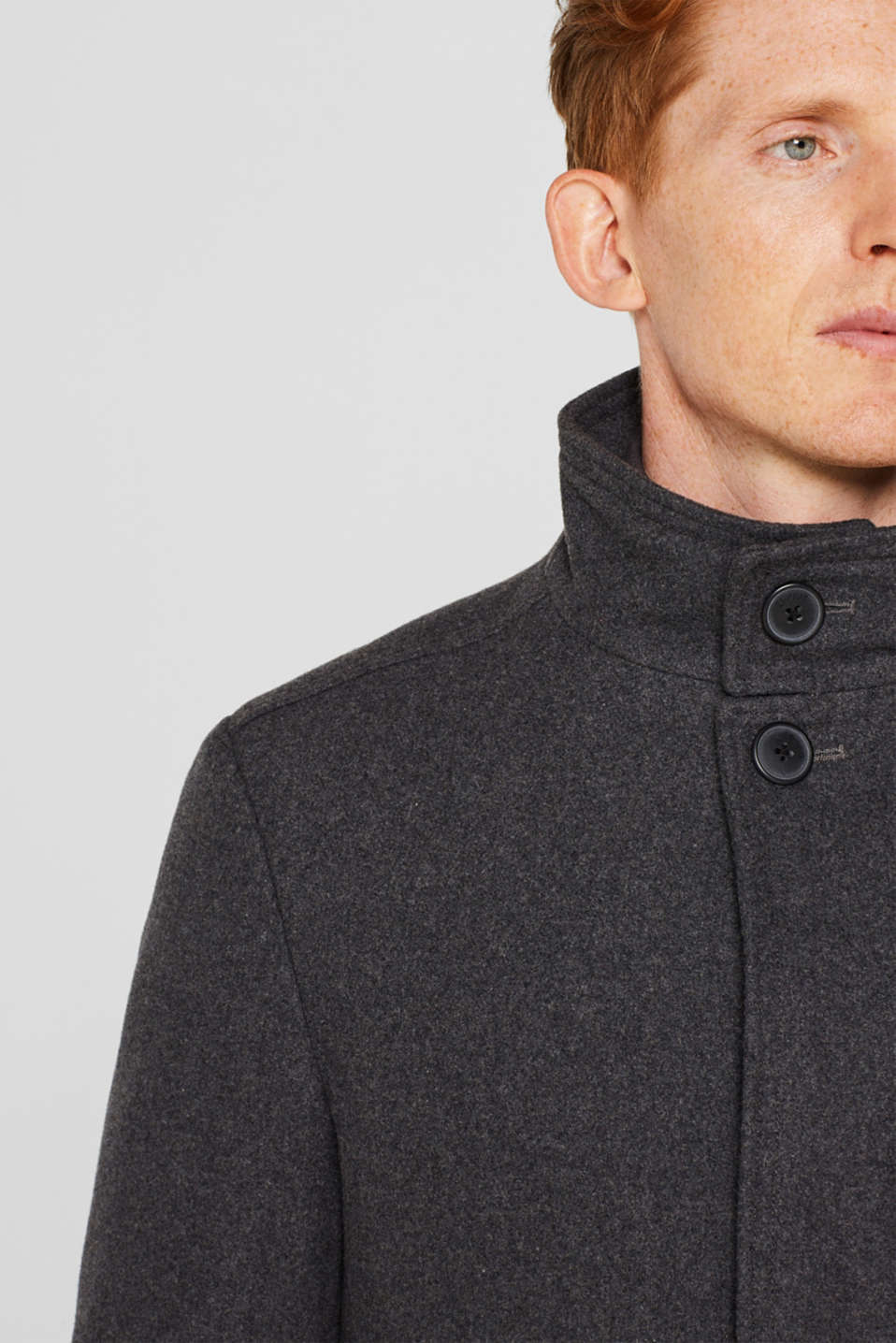 Coats woven, GREY, detail image number 4
