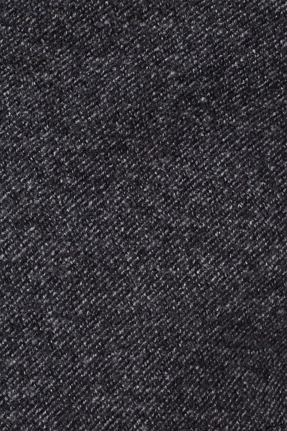 Wool blend: coat with a quilted insert, DARK GREY, detail image number 4