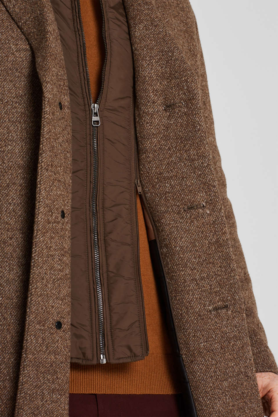 Coats knitted, CAMEL, detail image number 5