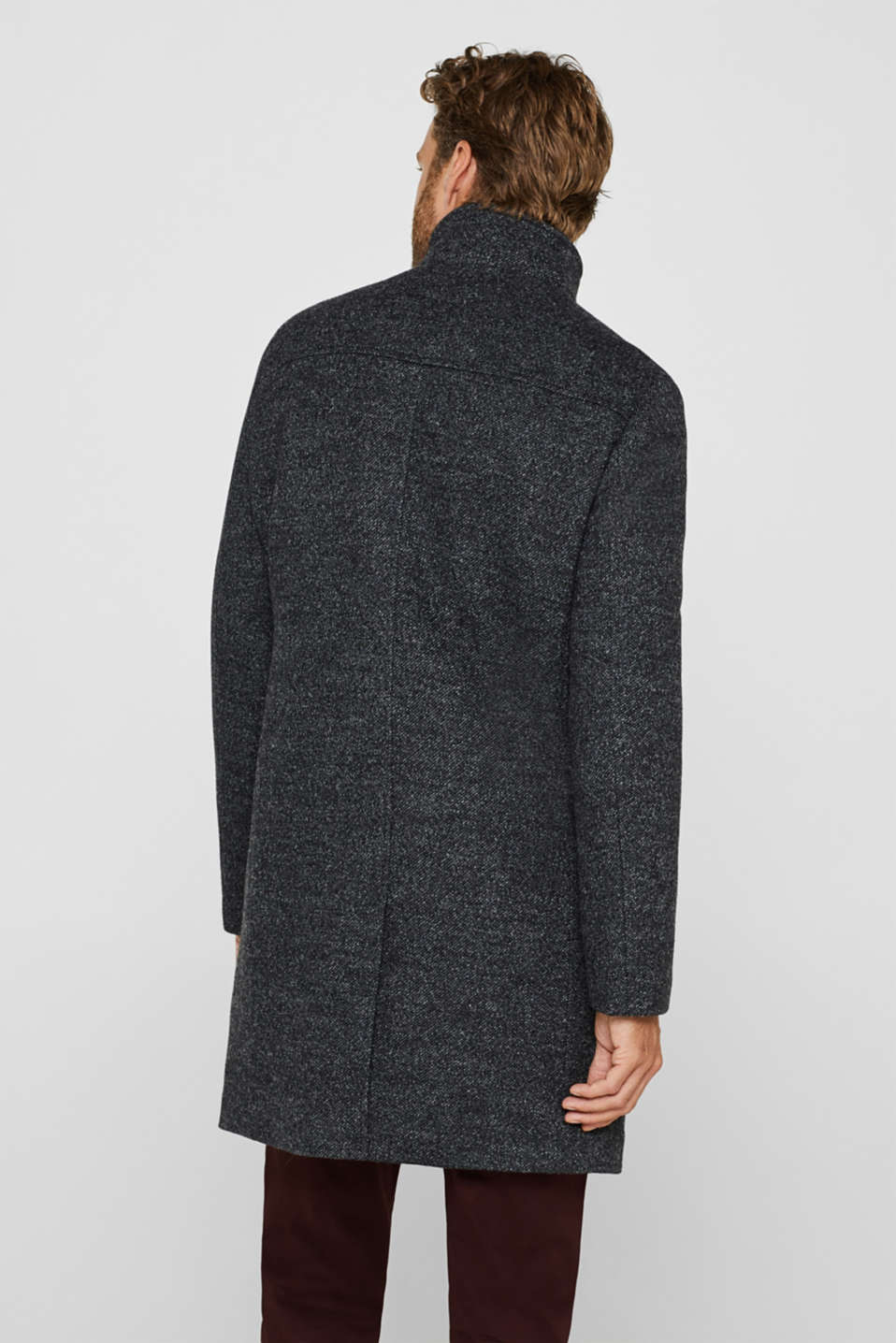 Coats knitted, ANTHRACITE, detail image number 3