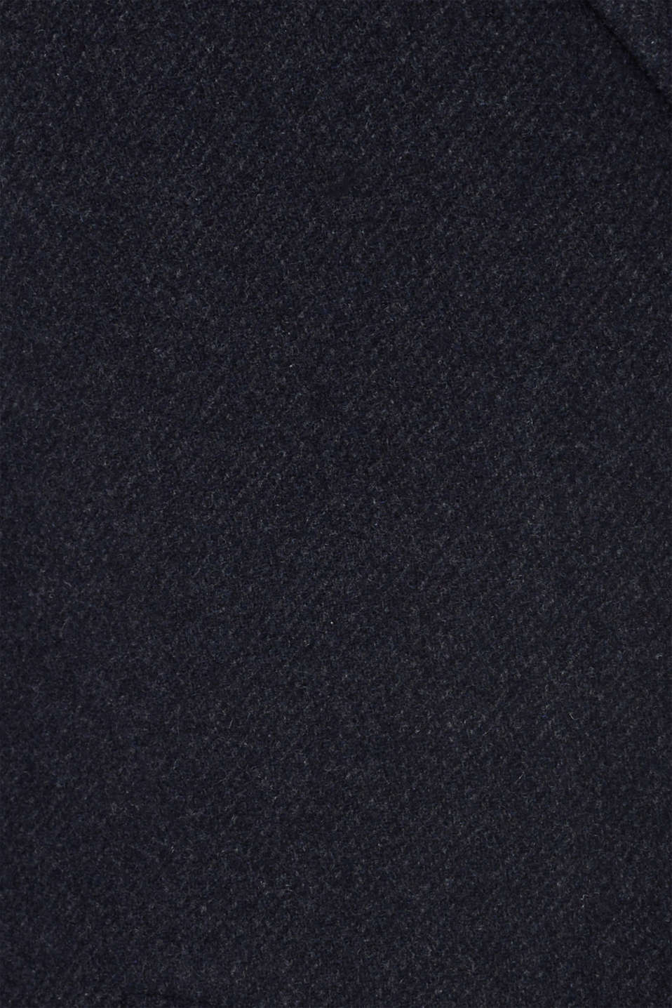 Blended wool: coat with a quilted insert, DARK BLUE, detail image number 5