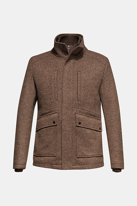 Wool blend: coat with a quilted insert
