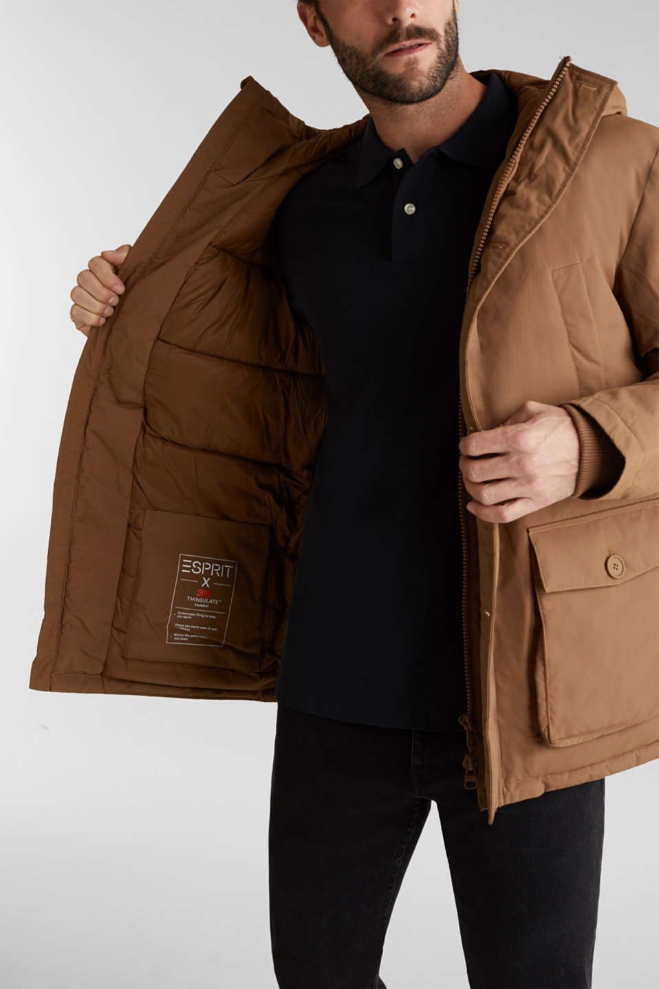 Parka with 3M™ Thinsulate™ padding, TOFFEE, detail image number 2