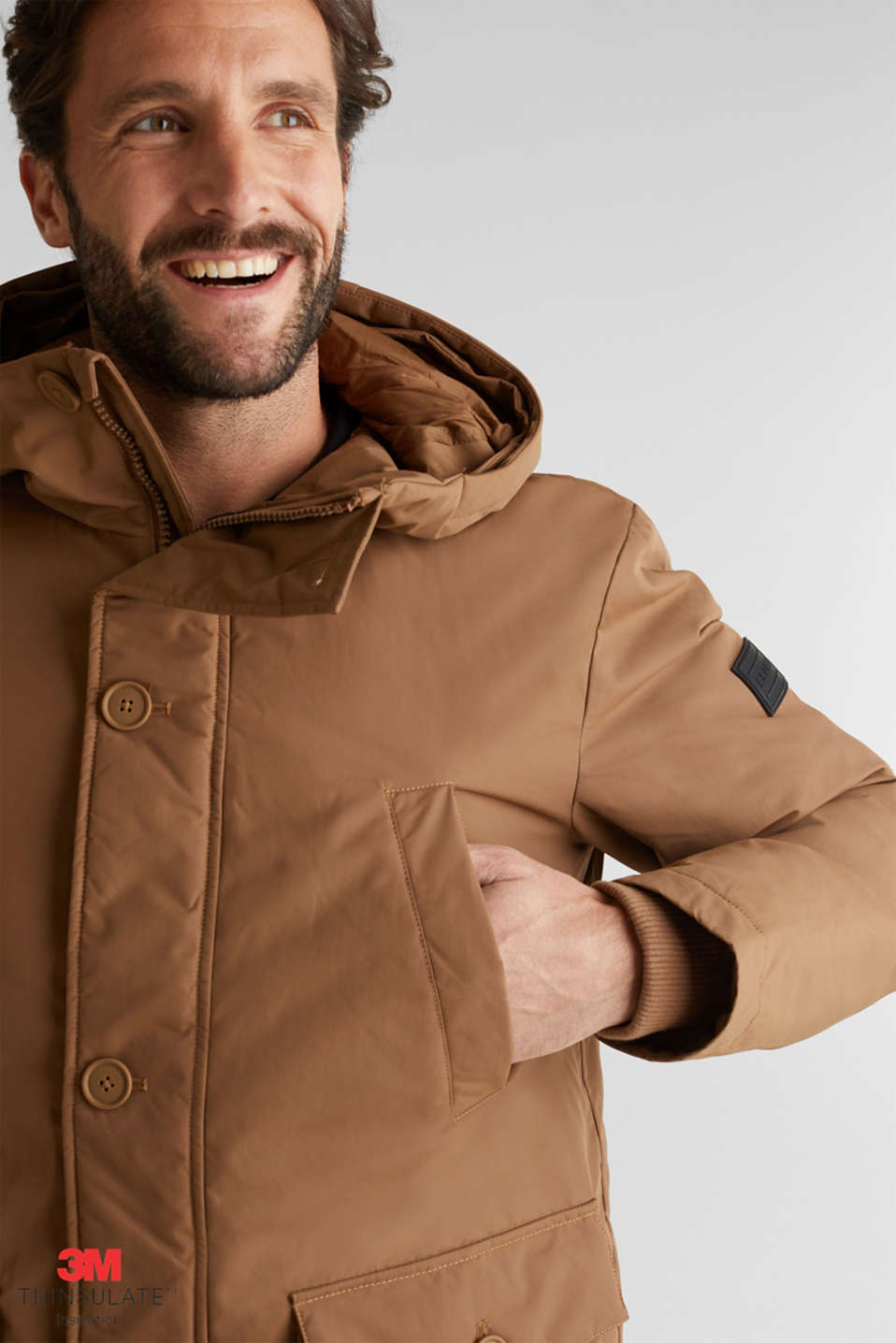 Parka with 3M™ Thinsulate™ padding, TOFFEE, detail image number 5