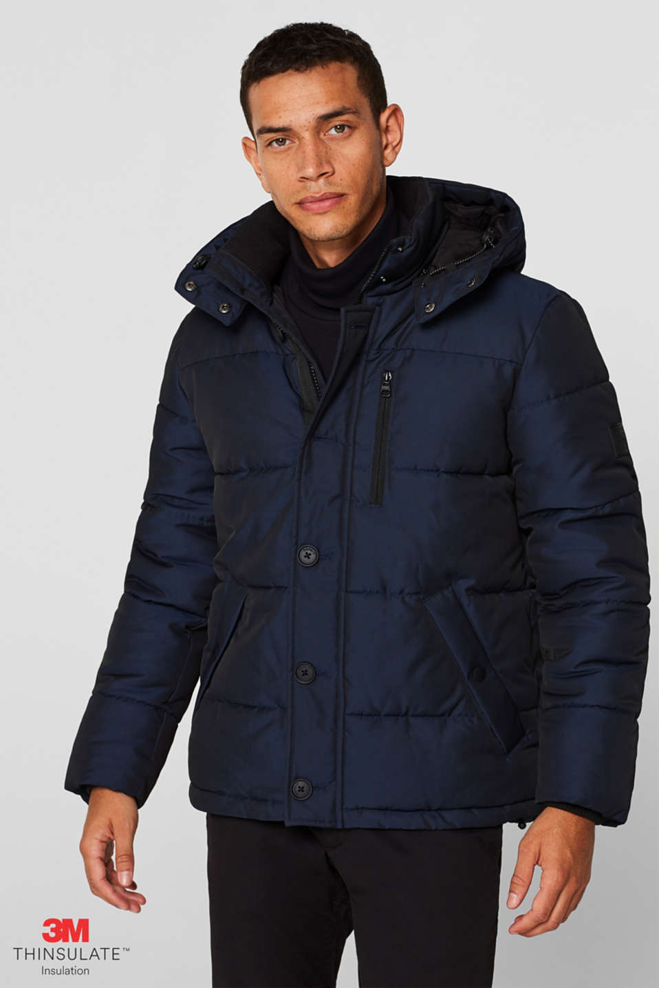 Quilted jacket with 3M® Thinsulate® padding, NAVY, detail image number 0