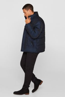 Quilted jacket with 3M® Thinsulate® padding, NAVY, detail