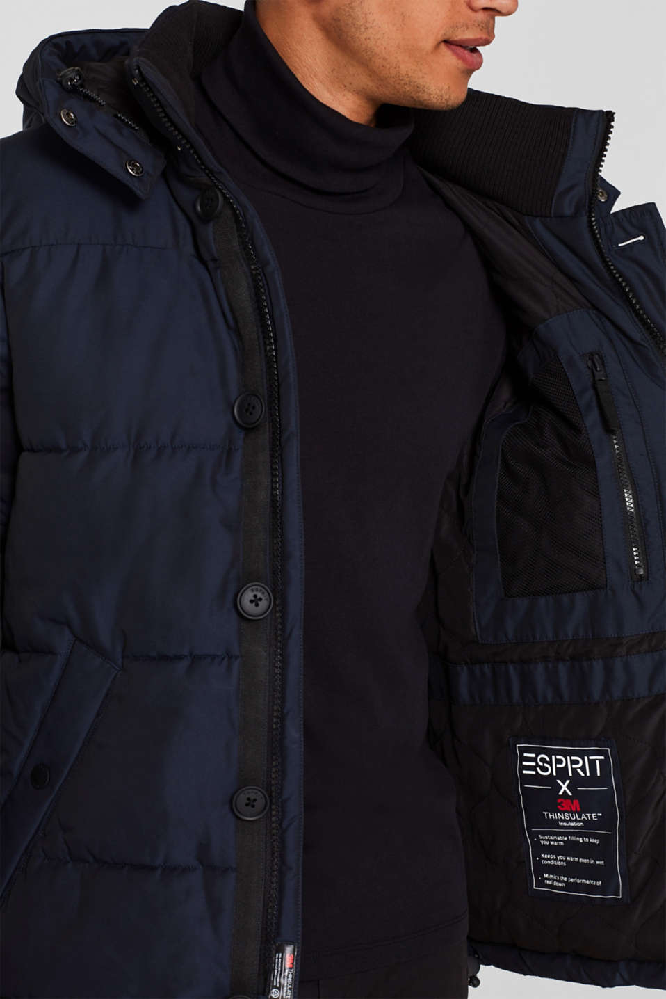 Quilted jacket with 3M® Thinsulate® padding, NAVY, detail image number 2