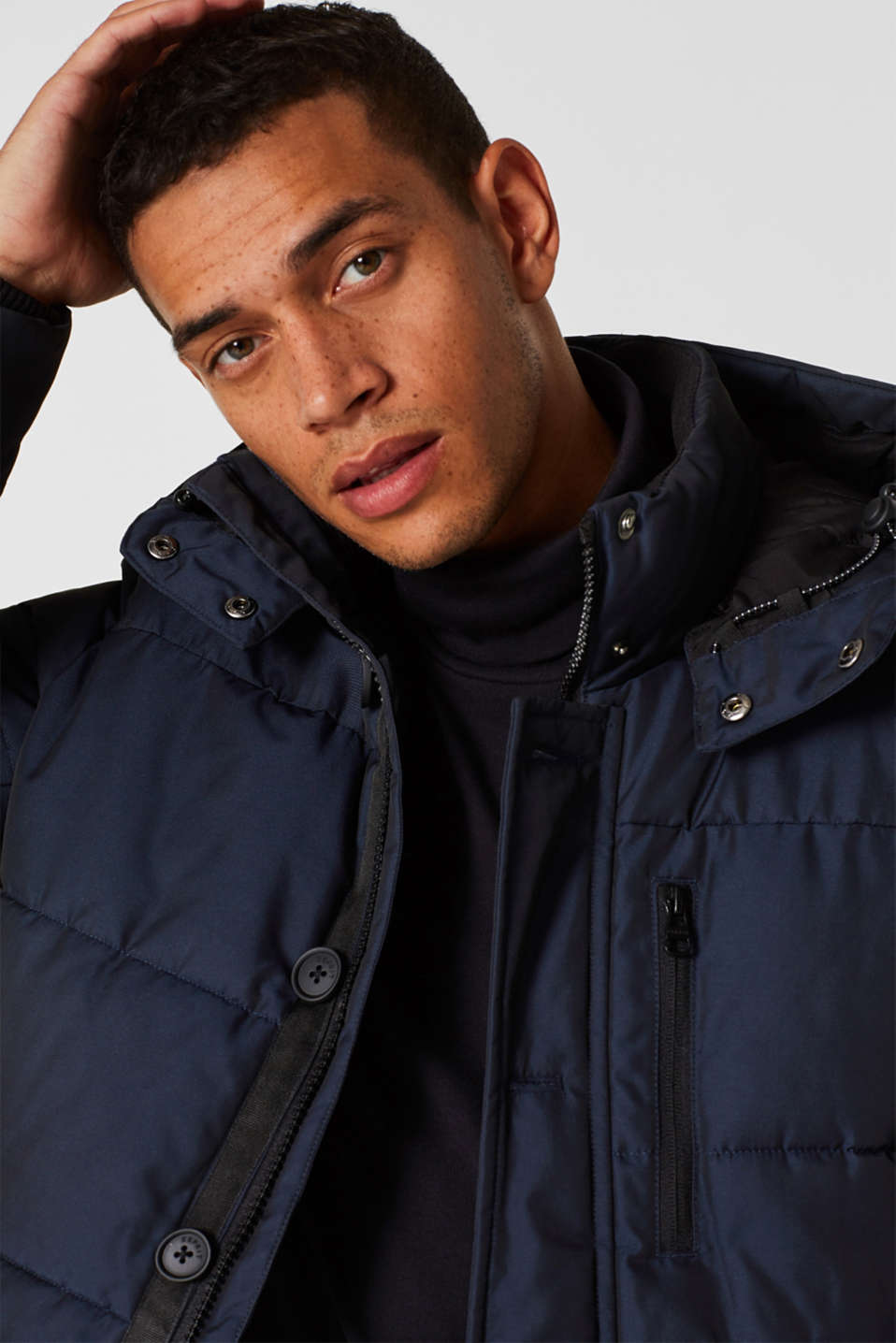 Quilted jacket with 3M® Thinsulate® padding, NAVY, detail image number 5