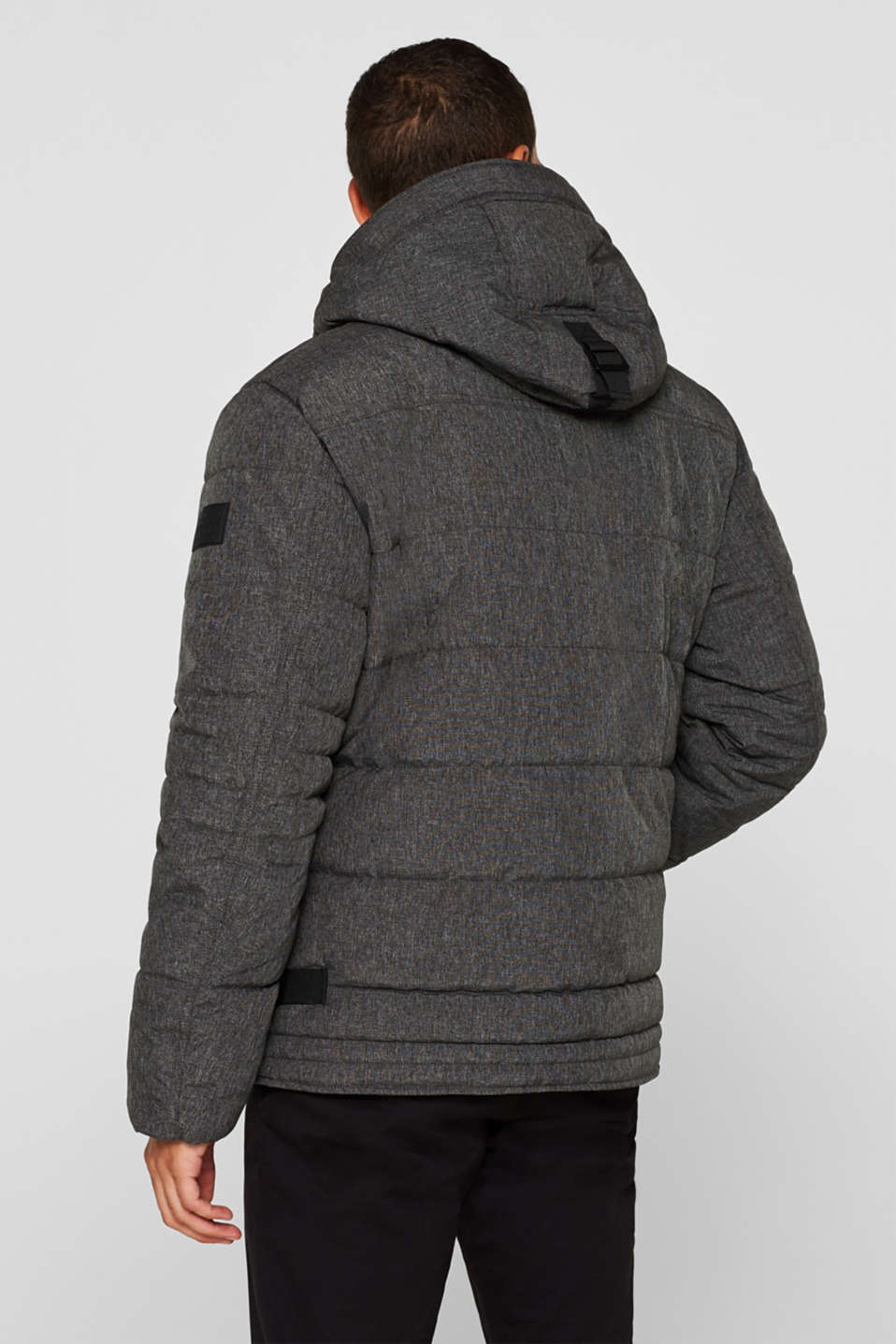 Winter jacket with an adjustable hood, GREY, detail image number 3