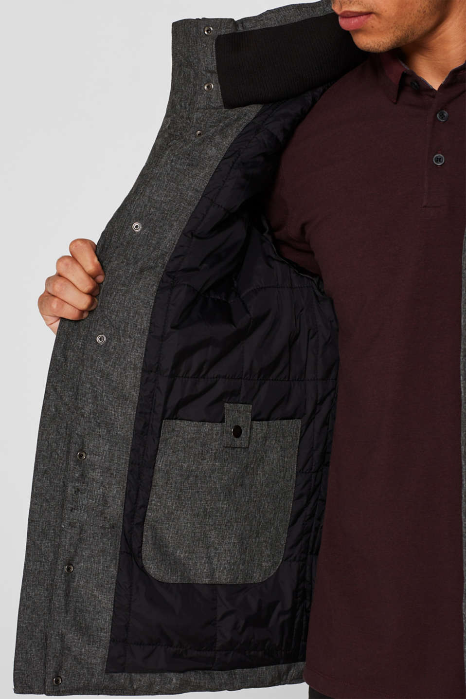 Winter jacket with an adjustable hood, GREY, detail image number 6