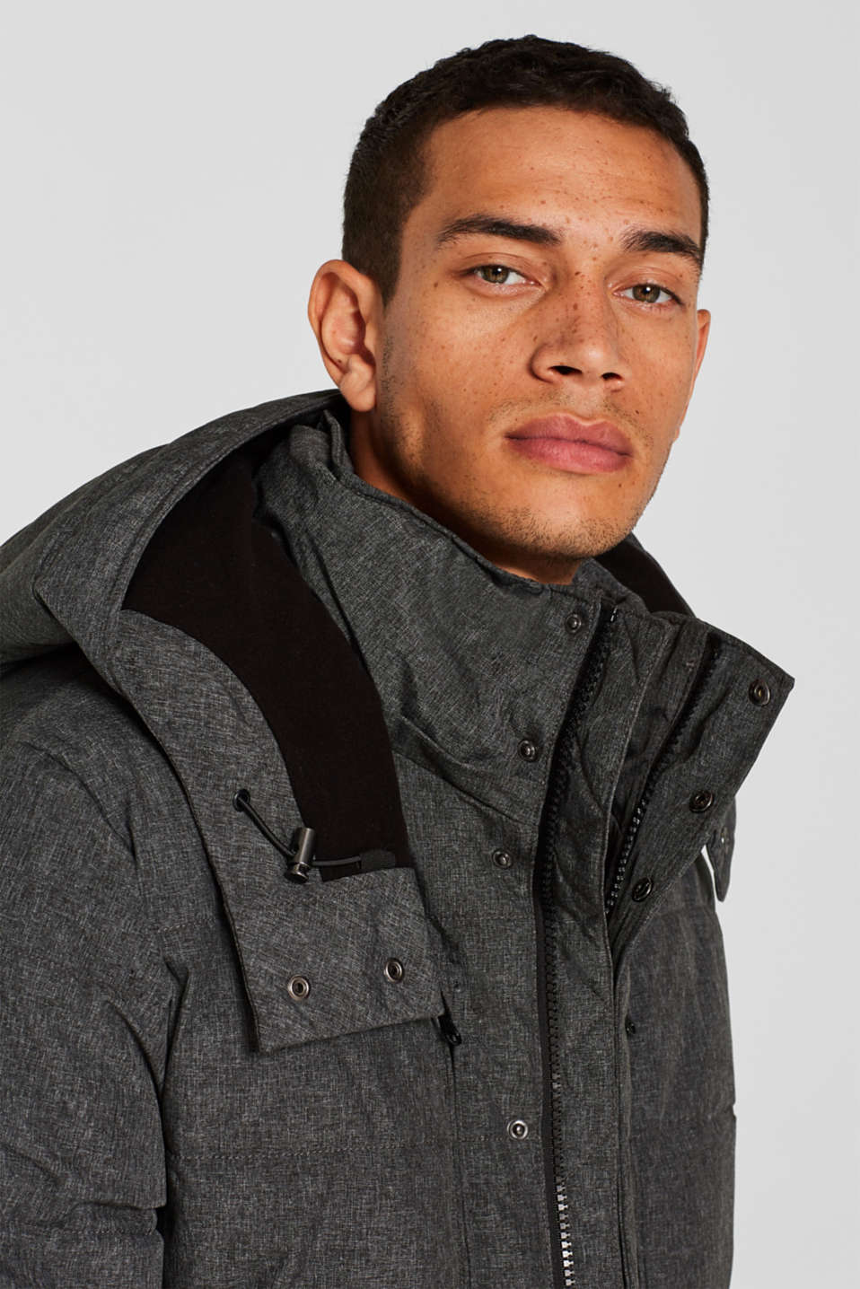 Winter jacket with an adjustable hood, GREY, detail image number 5