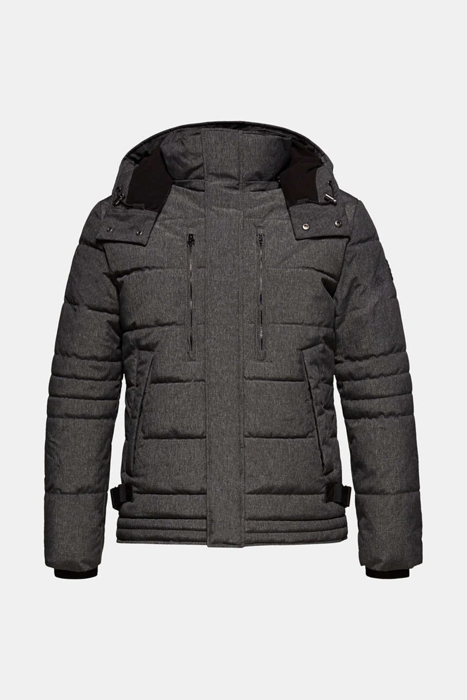 Winter jacket with an adjustable hood, GREY, detail image number 7