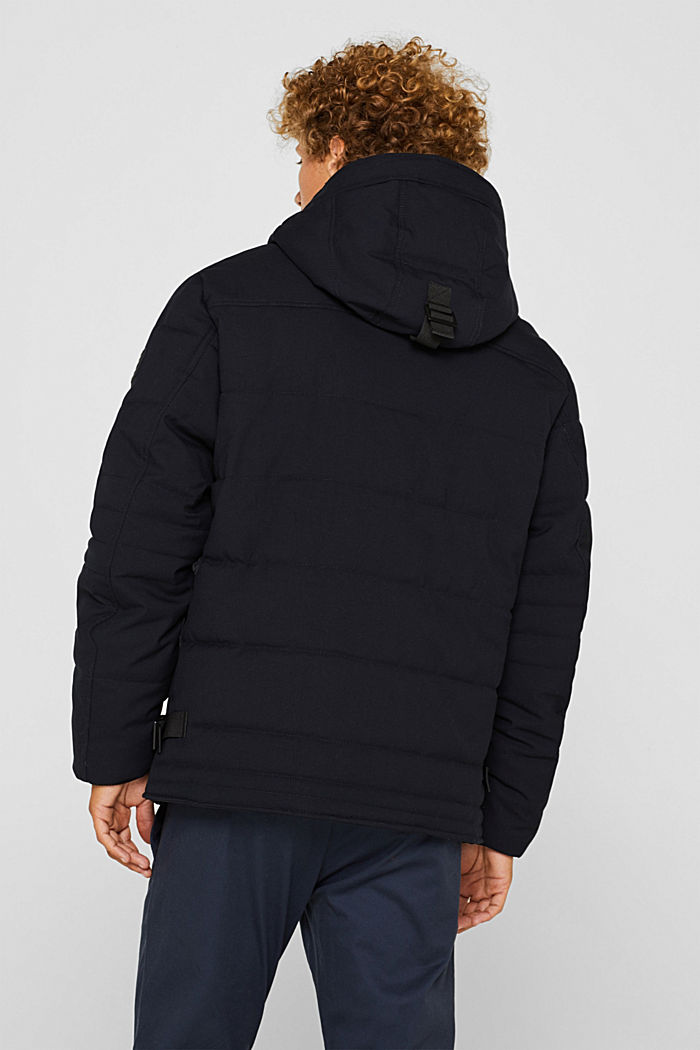 Padded quilted jacket with an adjustable hood, NAVY, detail image number 3