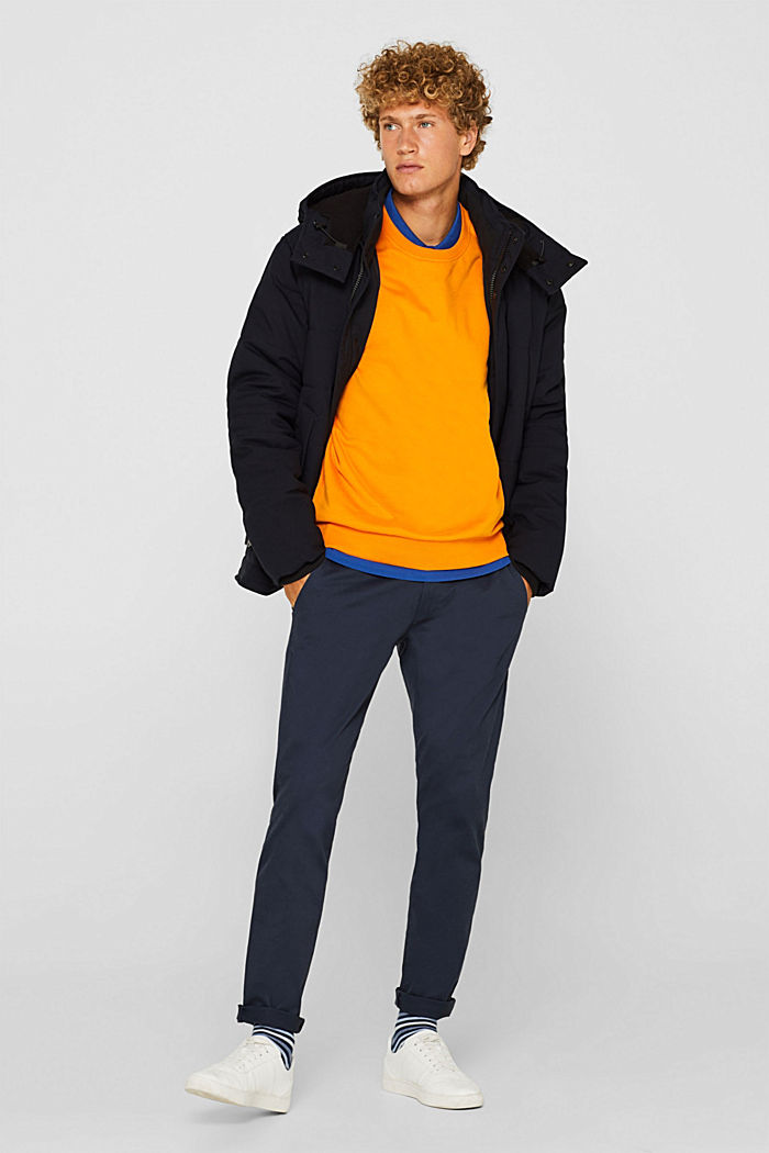 Padded quilted jacket with an adjustable hood, NAVY, detail image number 1