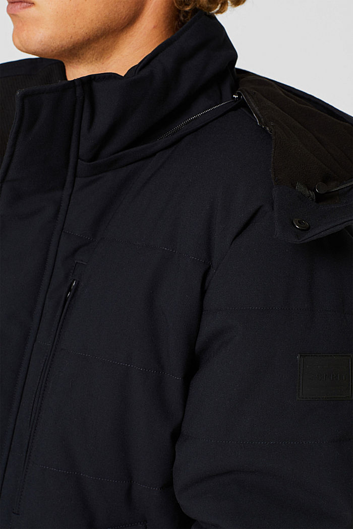 Padded quilted jacket with an adjustable hood, NAVY, detail image number 2
