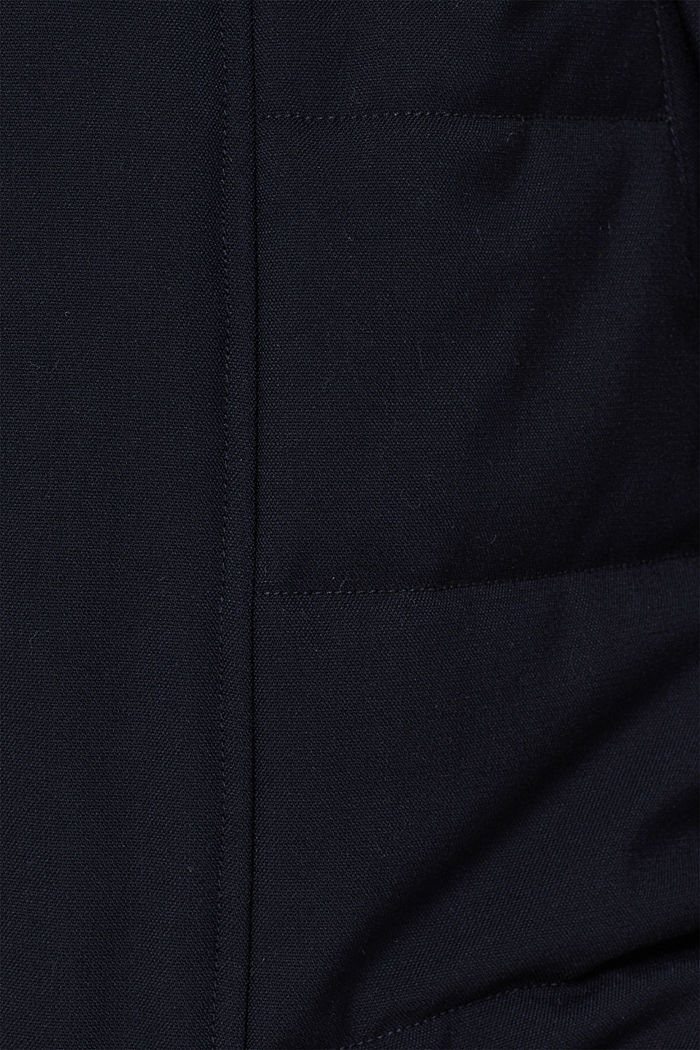 Padded quilted jacket with an adjustable hood, NAVY, detail image number 4