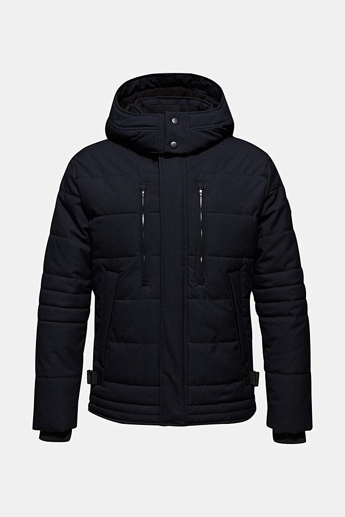 Gewatteerde jas met variabele capuchon, NAVY, detail image number 0