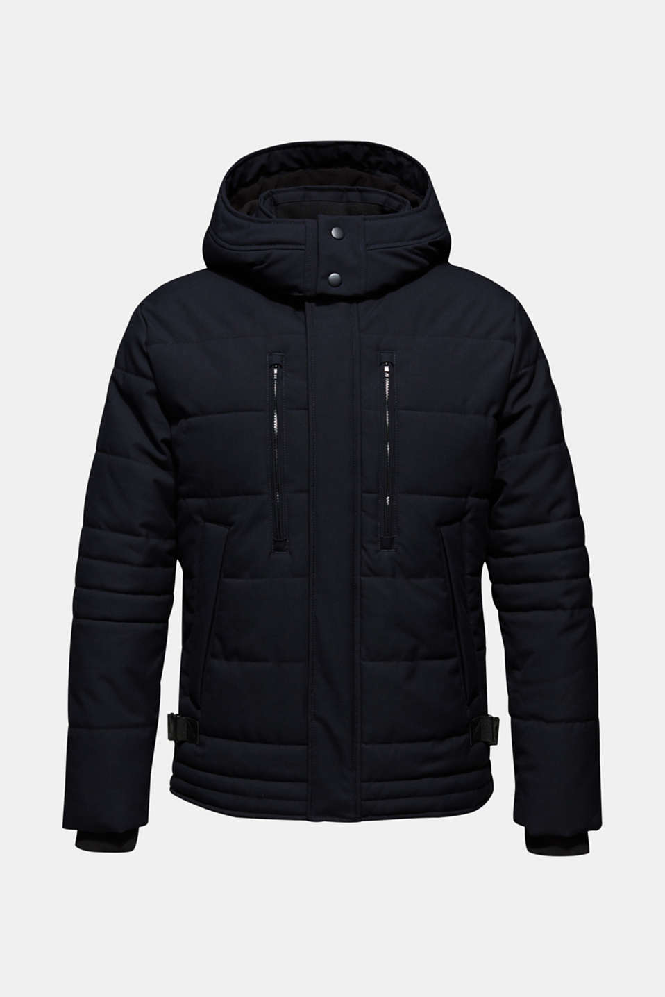 Padded quilted jacket with an adjustable hood, NAVY, detail image number 6