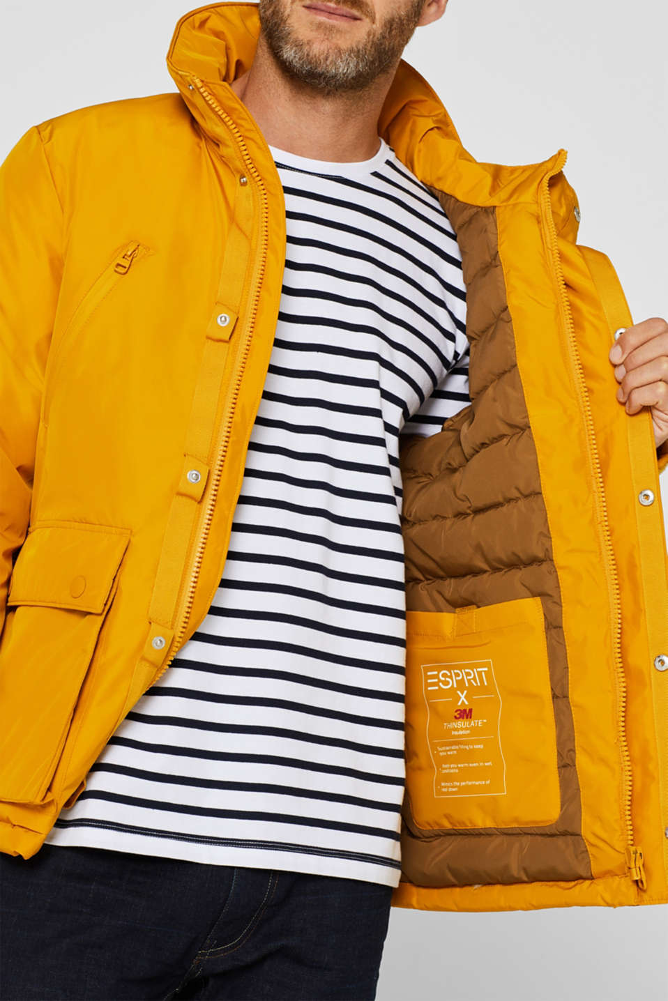 Jacket with 3M™ Thinsulate™ padding, YELLOW, detail image number 2