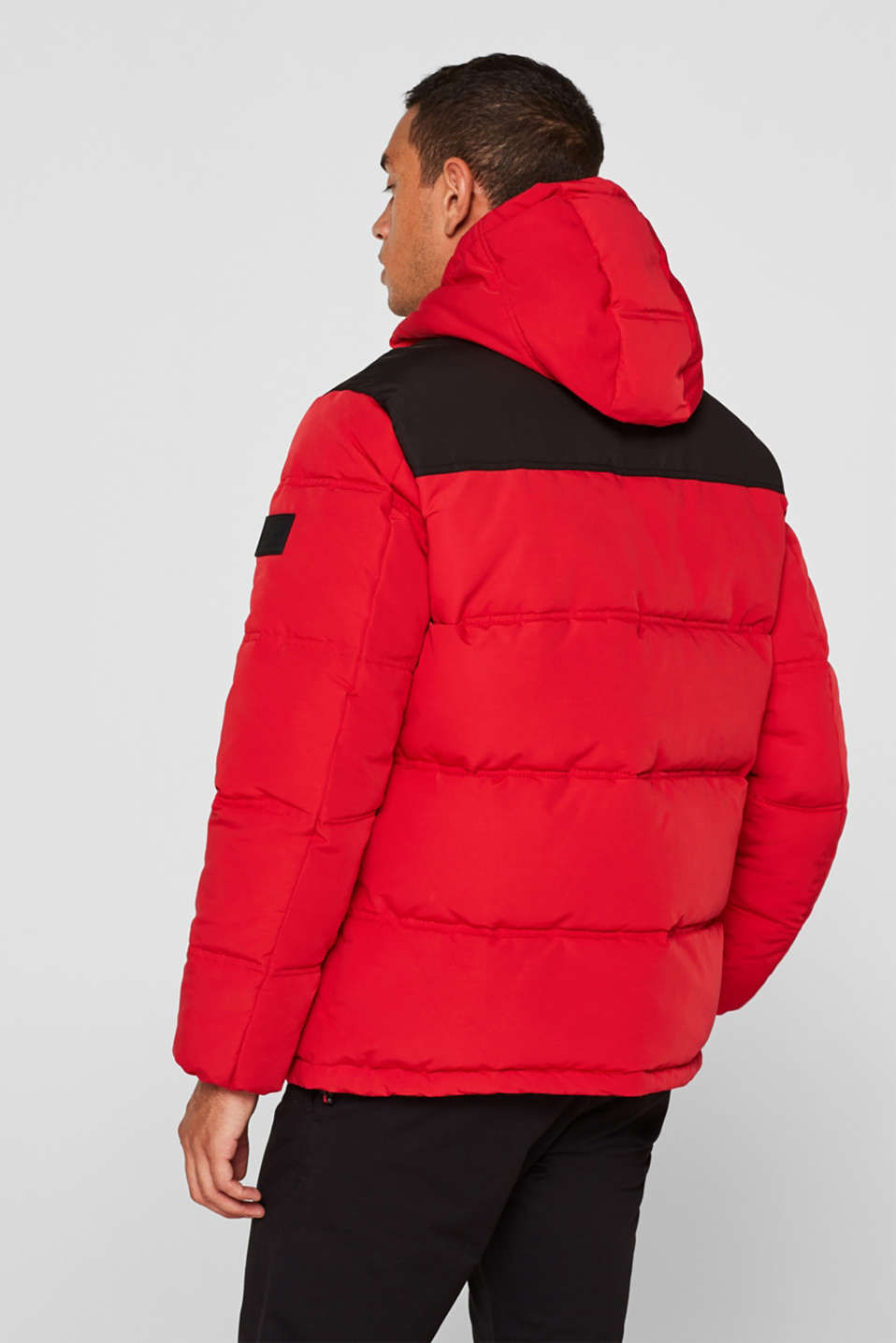 Winter jacket with a hood, RED, detail image number 3