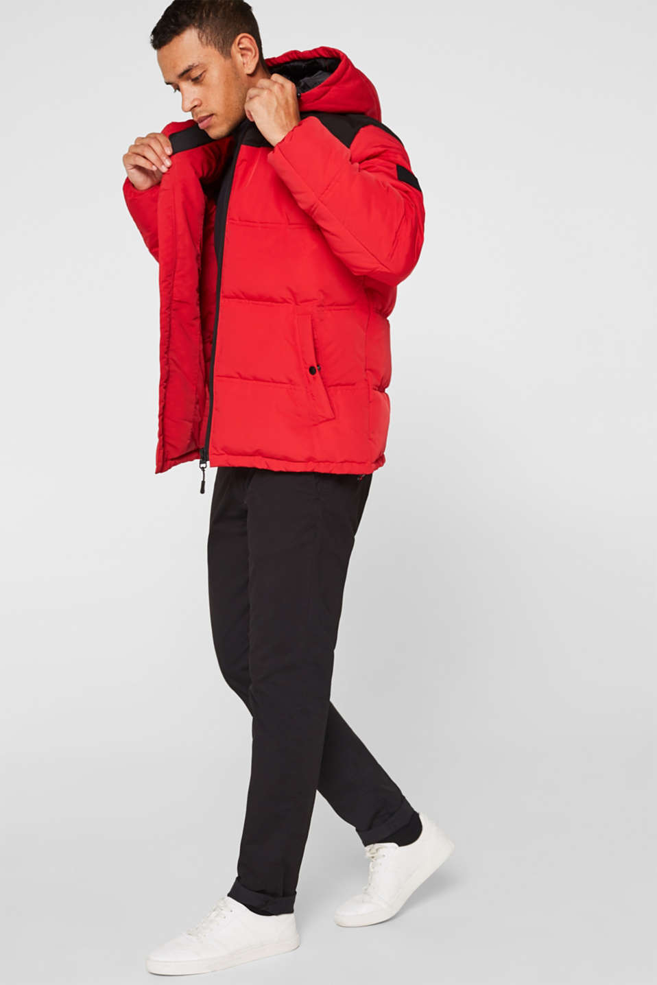 Winter jacket with a hood, RED, detail image number 1