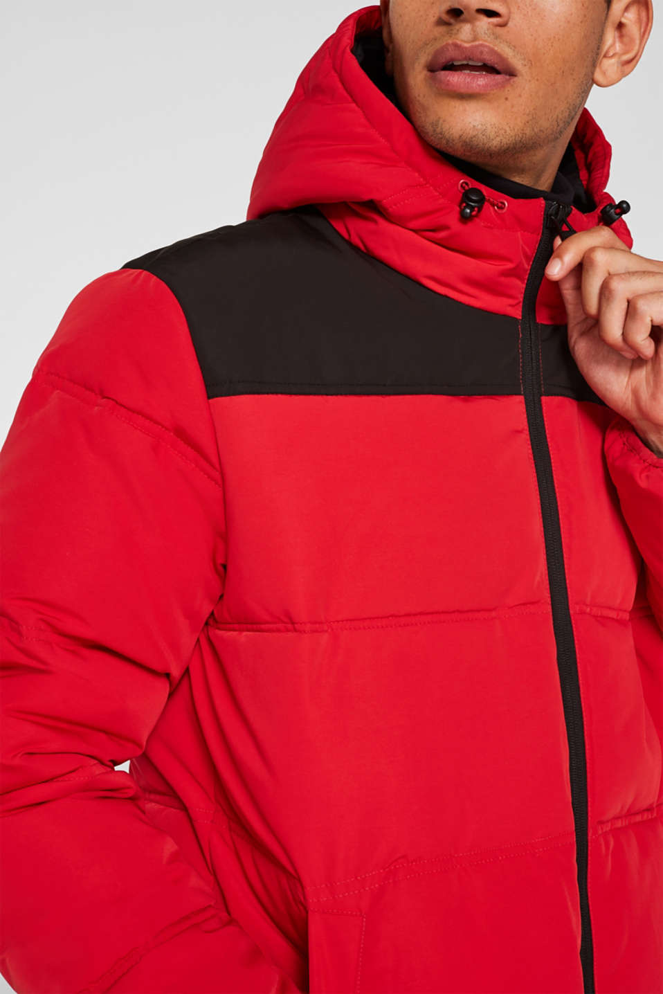Winter jacket with a hood, RED, detail image number 2