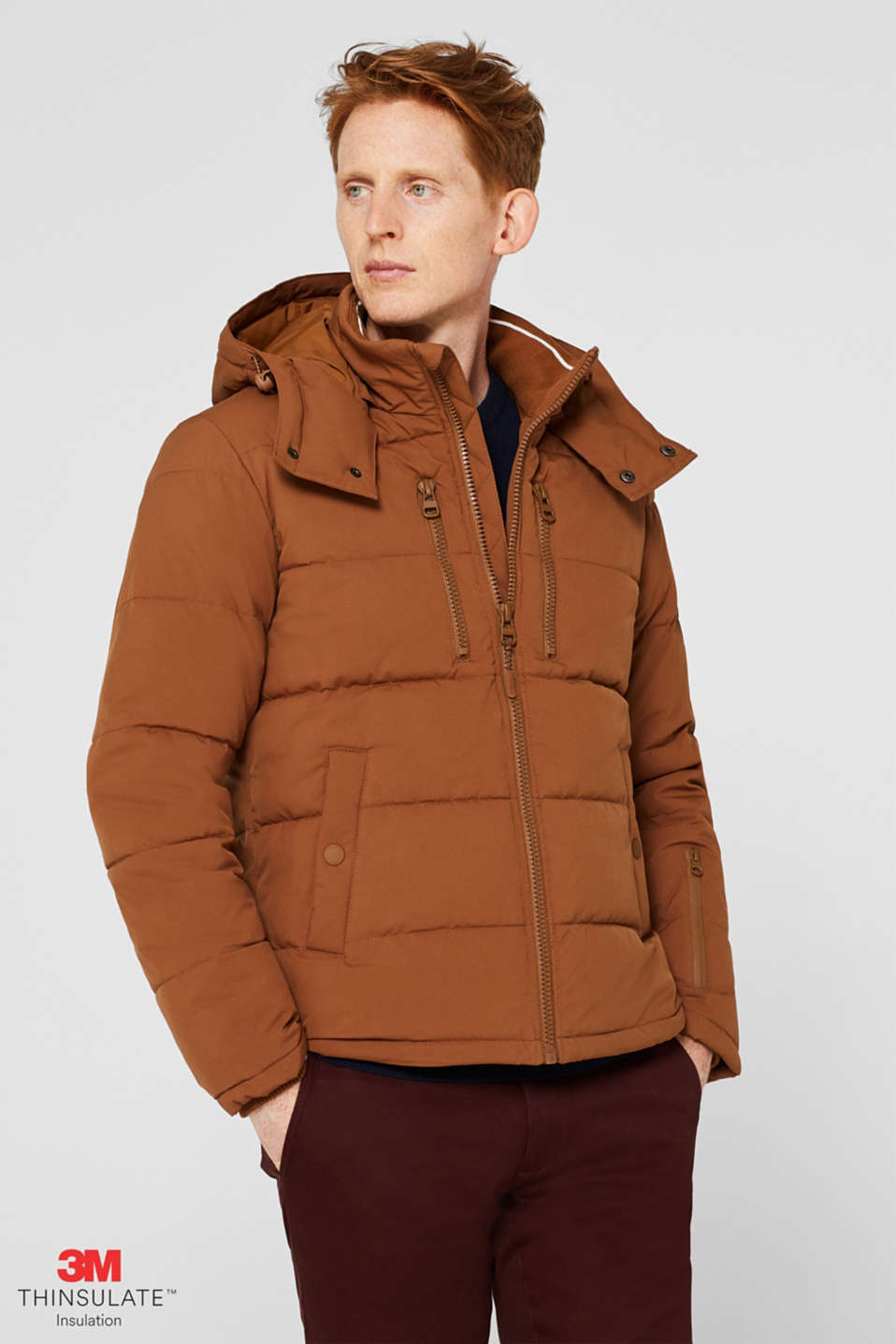 Quilted jacket with 3M™ Thinsulate™ padding, CAMEL, detail image number 0
