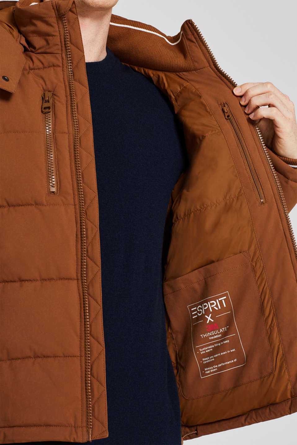 Quilted jacket with 3M™ Thinsulate™ padding, CAMEL, detail image number 6