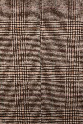 Wool blend: coat with a Prince of Wales check design