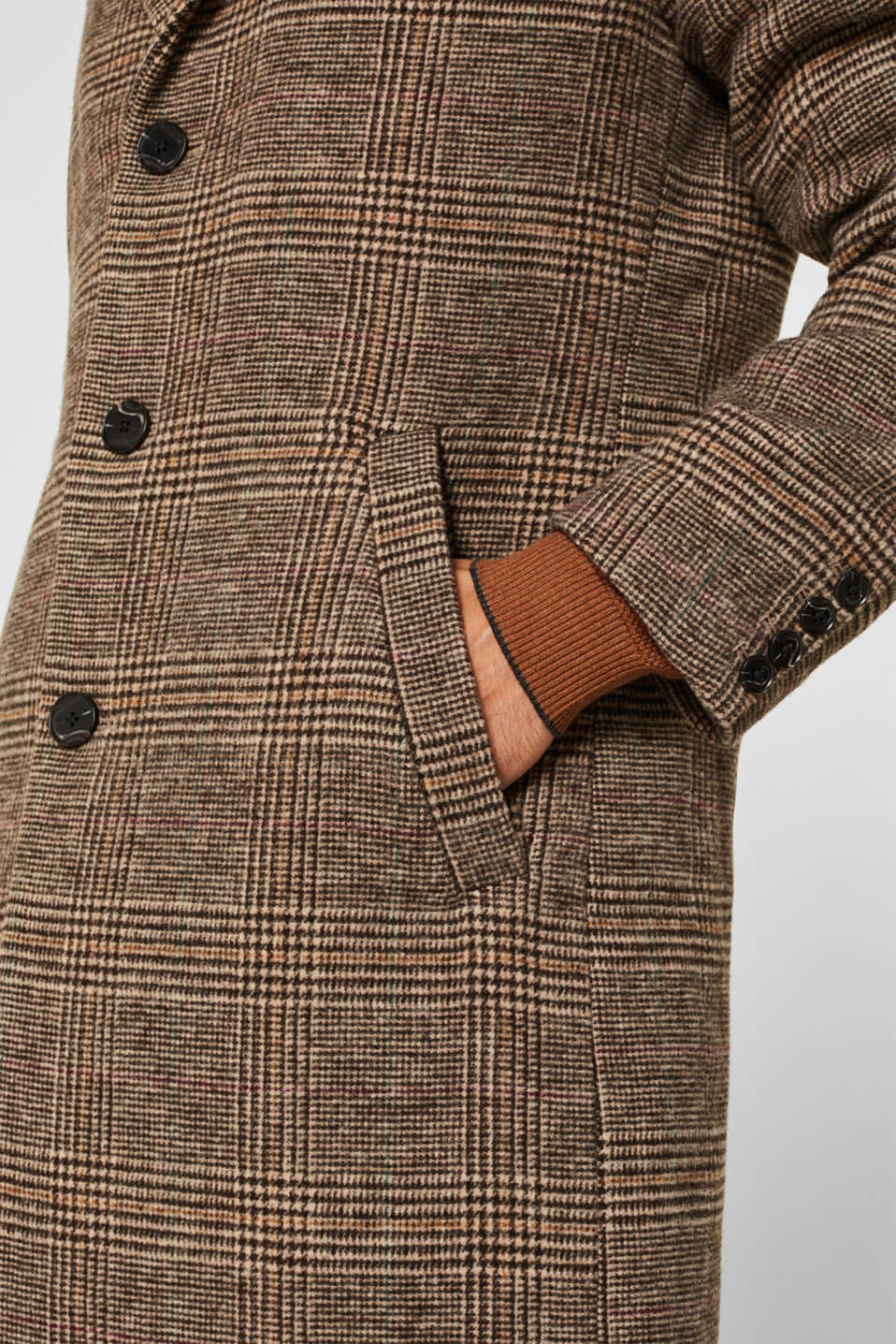 Coats woven, CAMEL, detail image number 7