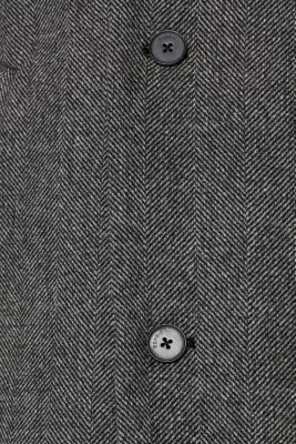 Wool blend: coat with a turn-down collar, GREY, detail
