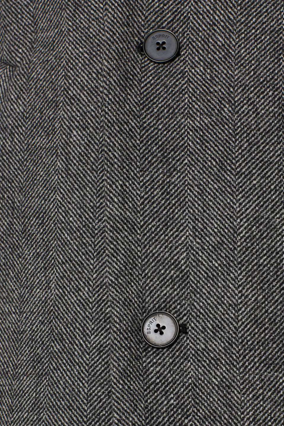 Wool blend: coat with a turn-down collar, GREY, detail image number 5