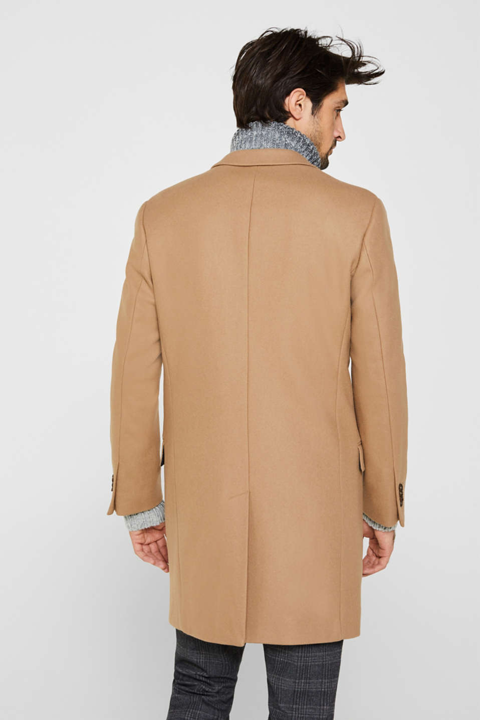 Wool blend: Coat made of Italian yarn, CAMEL, detail image number 3