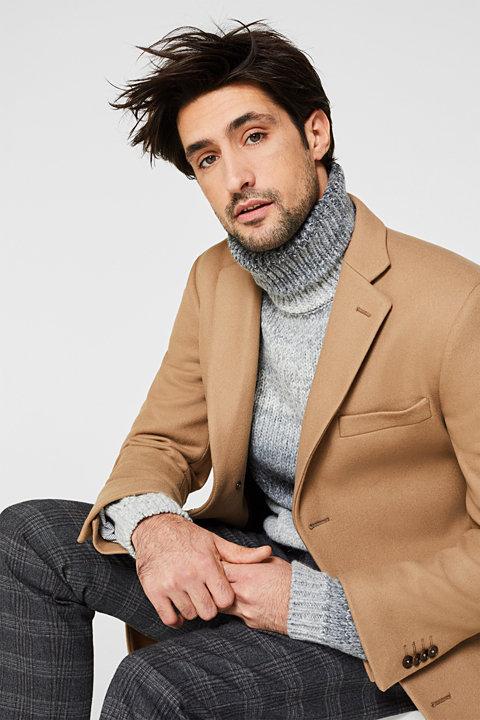 Wool blend: Coat made of Italian yarn