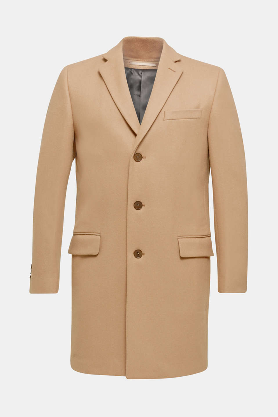 Wool blend: Coat made of Italian yarn, CAMEL, detail image number 8