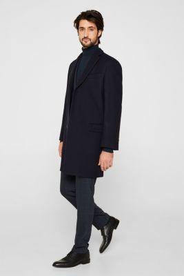 Wool blend: Coat made of Italian yarn, NAVY, detail