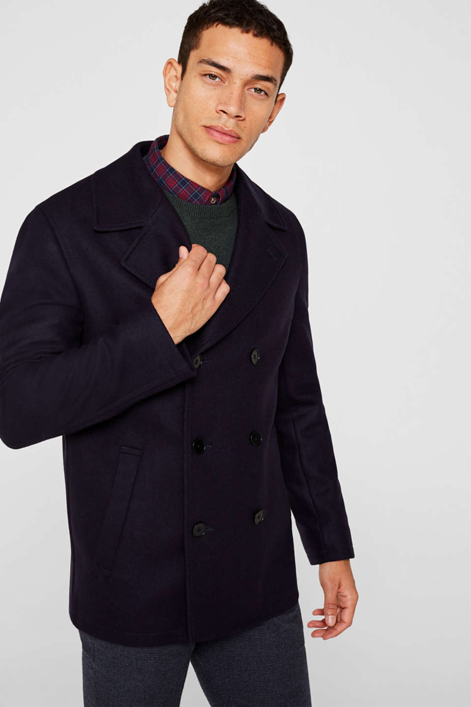 Esprit - Wool blend: Coat made of Italian yarn