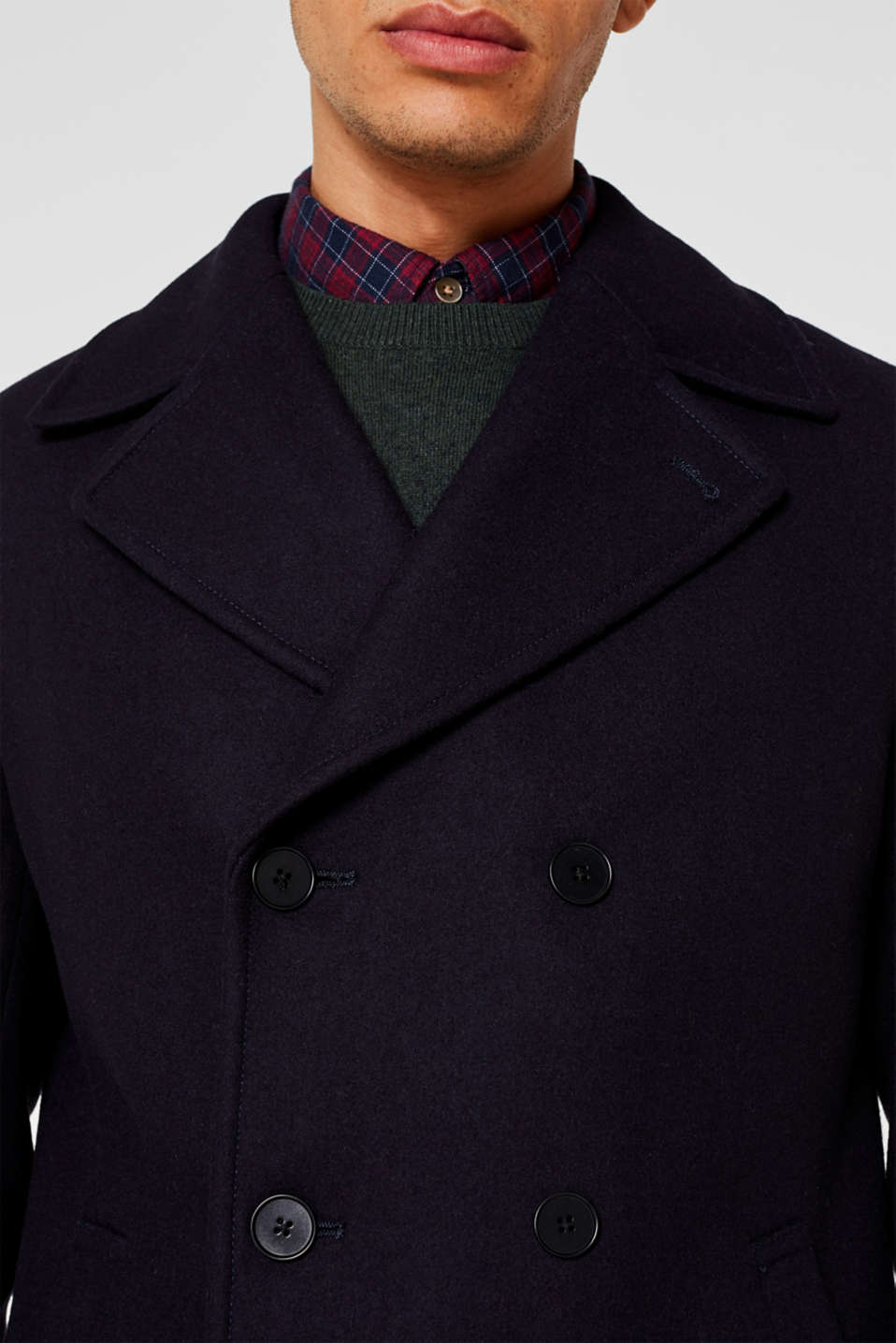 Wool blend: Coat made of Italian yarn, NAVY, detail image number 2