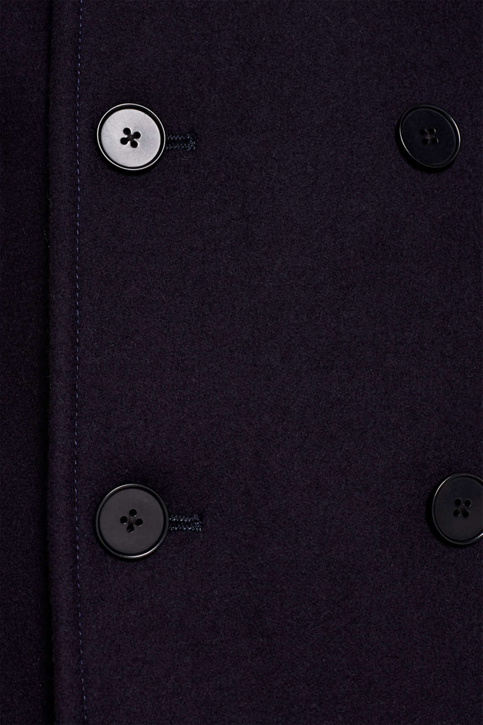 Wool blend: Coat made of Italian yarn, NAVY, detail image number 5