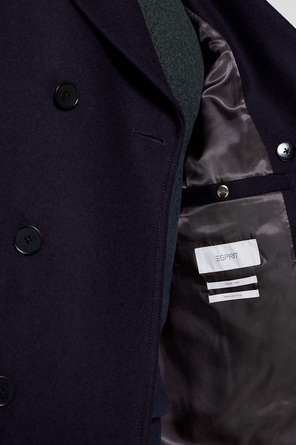 Wool blend: Coat made of Italian yarn, NAVY, detail image number 7