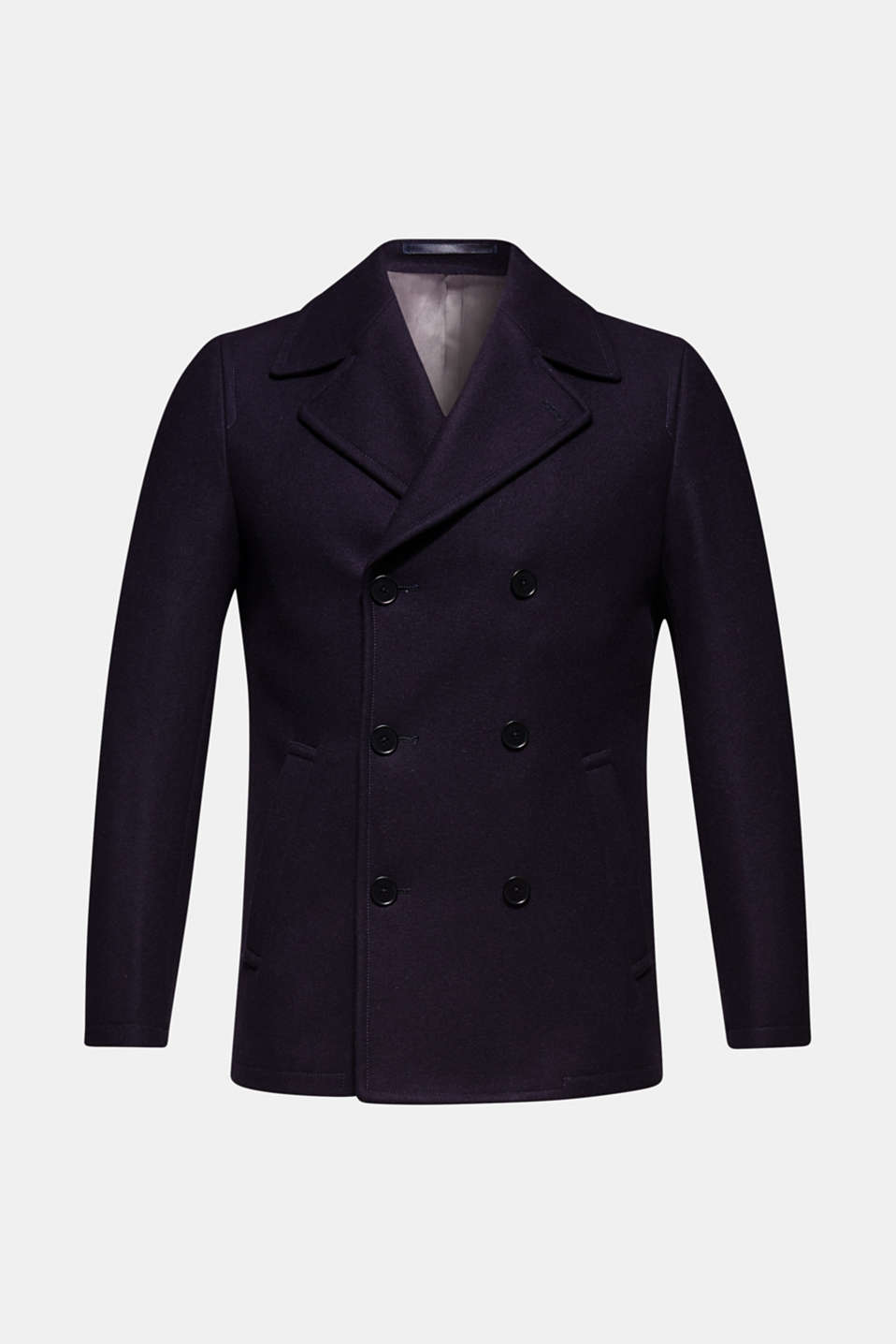 Wool blend: Coat made of Italian yarn, NAVY, detail image number 8